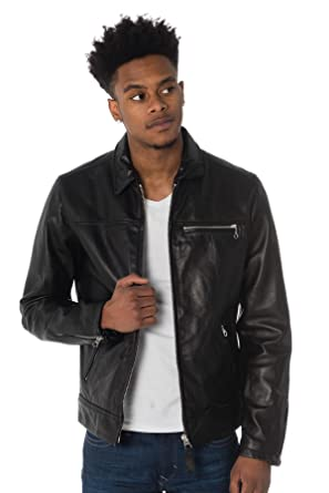 71dd3b869c1 Mens Schott LC Ride Black Leather Jacket - L  Amazon.co.uk  Clothing