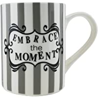 Shallow Porcelain Tea Coffee Mug |Refreshing Quotes & Designs |Dark Design