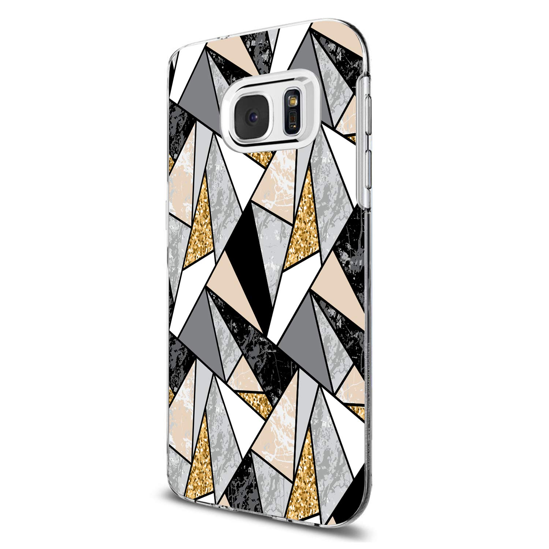 Samsung Galaxy S7 Silicona TPU Lindo Carcasa Suave Transparente Proteccion Flor Geometr/ía Estuche Ultra-Delgado Anti-Choque Anti-ara/ñazos Caja para S7 Edge Funda Samsung S7