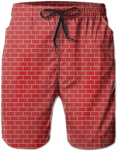 HZamora/_H Men Summer Beach Pattern Summer Breathable Quick-Drying Swim Trunks Beach Shorts Cargo Shorts