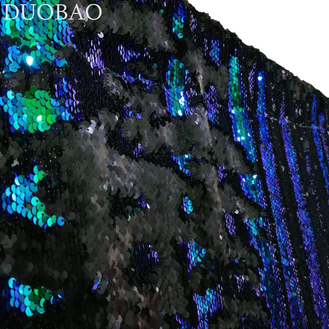 DUOBAO Sequin Backdrop 20FTx10FT Green to Black Shimmer Backdrop Mermaid Reversible Sequin Backdrop Curtain Bridal Shower Photo Booth Backdrop