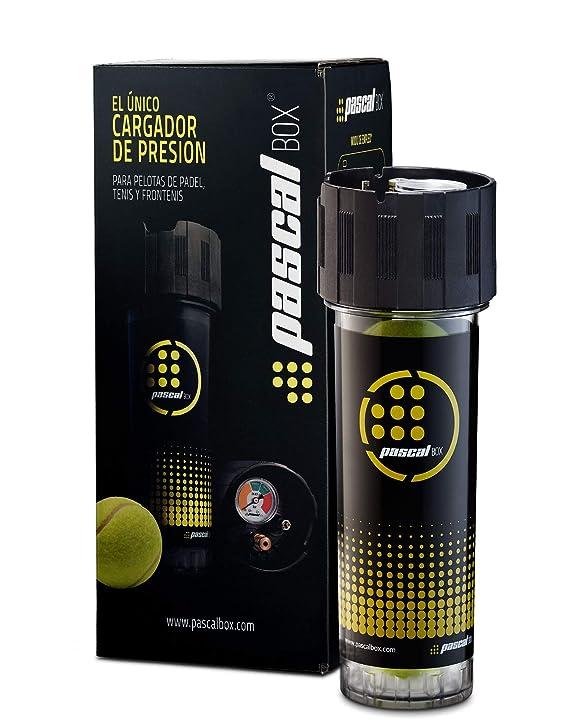 Pascal Box - El único Sistema Presurizador Completo y de Alta Precisión para Pelotas de Tenis, pádel y Frontenis. Juega con la presión reglamentaria, ...
