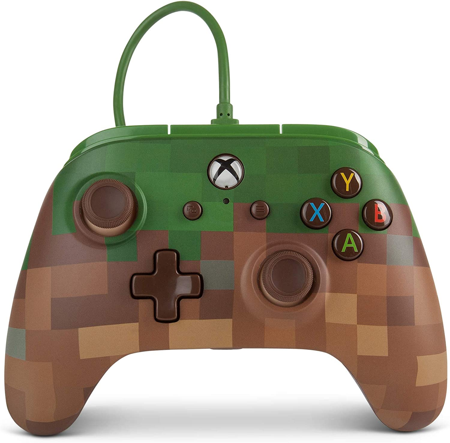 Mando inalámbrico para Xbox One de PowerA: Minecraft Grass Block ...