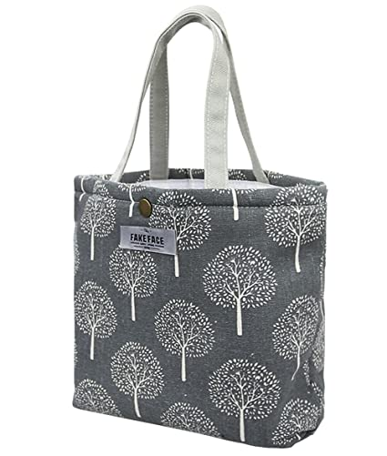 be1fe54b14f8 Canvas Insulated Cool Bag Lunch Box Tote Bag Picnic BBQ Food Carrier Travel  School Office Lunch Carry Bag Cooler  Amazon.co.uk  Baby