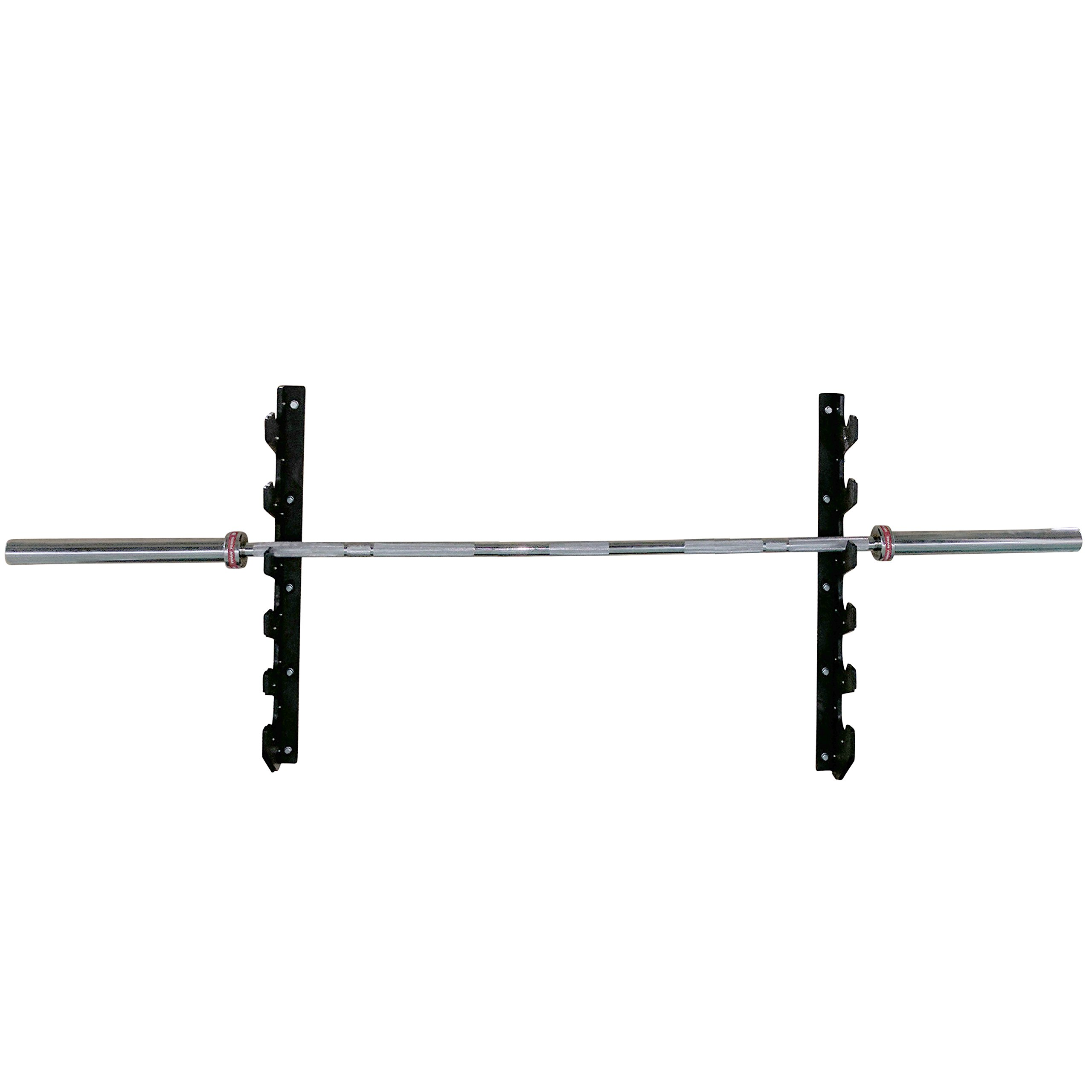 Titan Horizontal Wall Mounted 6 Olympic Barbell Rack by Titan Fitness