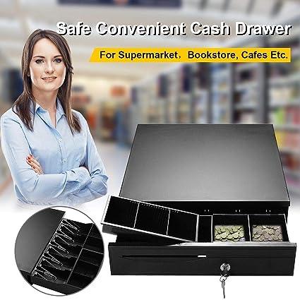 Cajón para Caja de 12 V para pequeñas Empresas, Registro de Efectivo, 4 Billetes