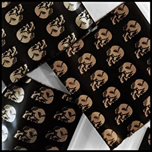 "2020 Apple Mini Ziplock Baggies Gold Skull Design 100 Bags 2"" X 2"""