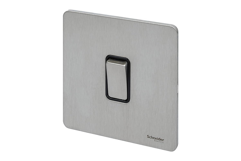 Schneider Electric Ultimate 16AX, Gitterplatte, 2-Wege-Schalter, aus ...