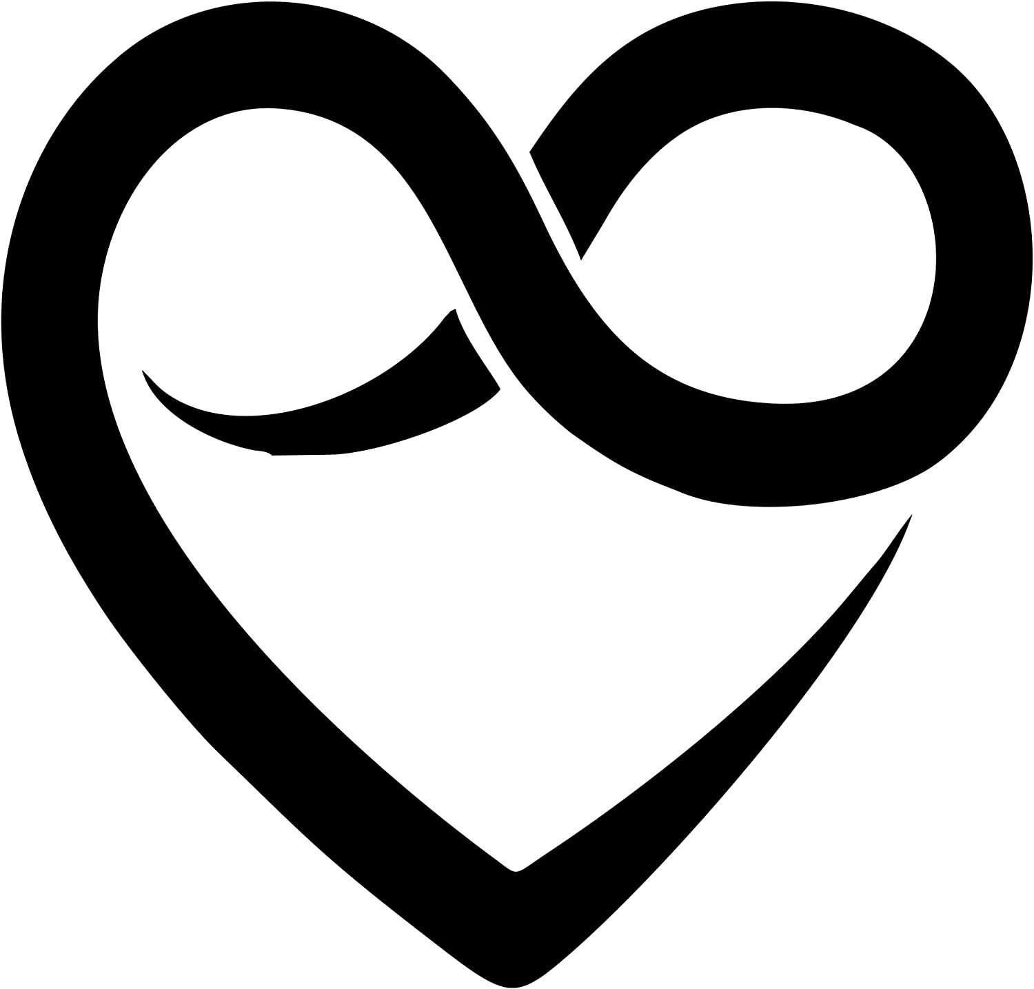 Amazon.com: Sign Depot Heart with Infinity Symbol 6 Inches: Automotive