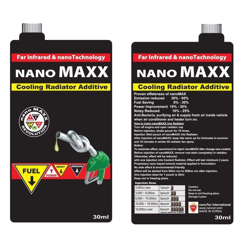 New NanoMaxx Cooling radiator Additive Fuel Save Emission & Noisy Reduce Powerup Nano Energizer