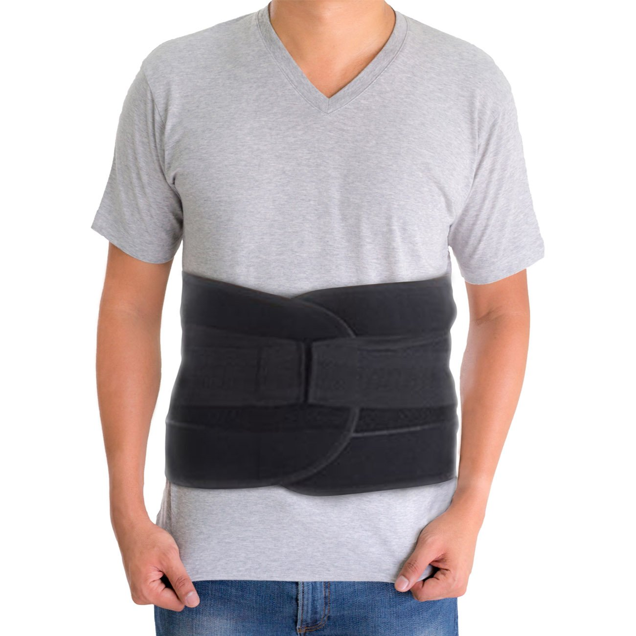 Back Brace for Lower Back Pain – Comfortable Lumbar Support Belt for Weight Lifting and Low Spine Stabilizer for Sciatica Nerve Relief or Scoliosis. Compression for Bulging Herniated Disc (Medium) by ARMSTRONG AMERIKA (Image #8)