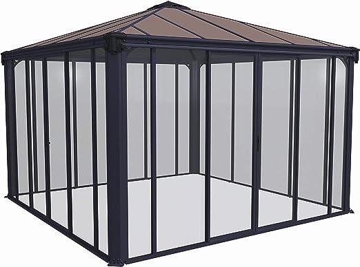 Palram Ledro - Cenador de jardín Cerrado, Estructura de Aluminio con Paredes: Amazon.es: Jardín