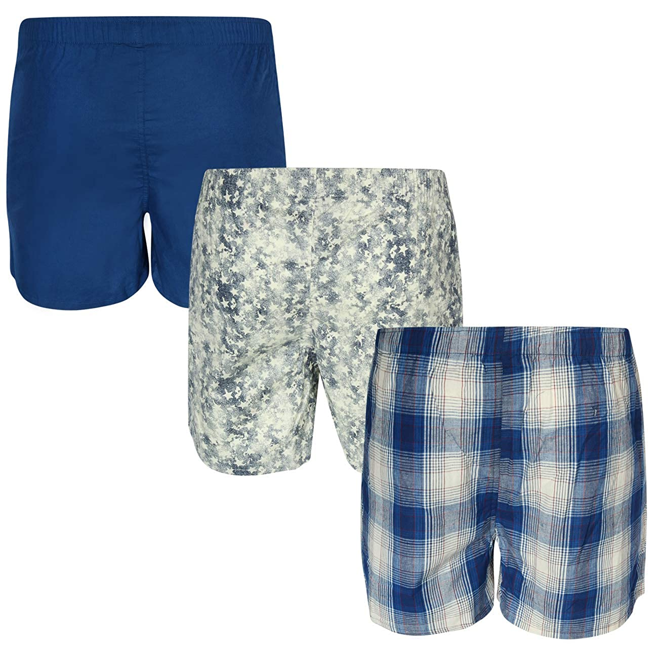 Mens Woven Boxer Underwear with Functional Fly U.S 4 Pack Polo Assn