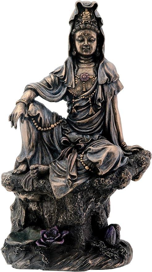 High.7 inch buddhist guanyin bronze statue