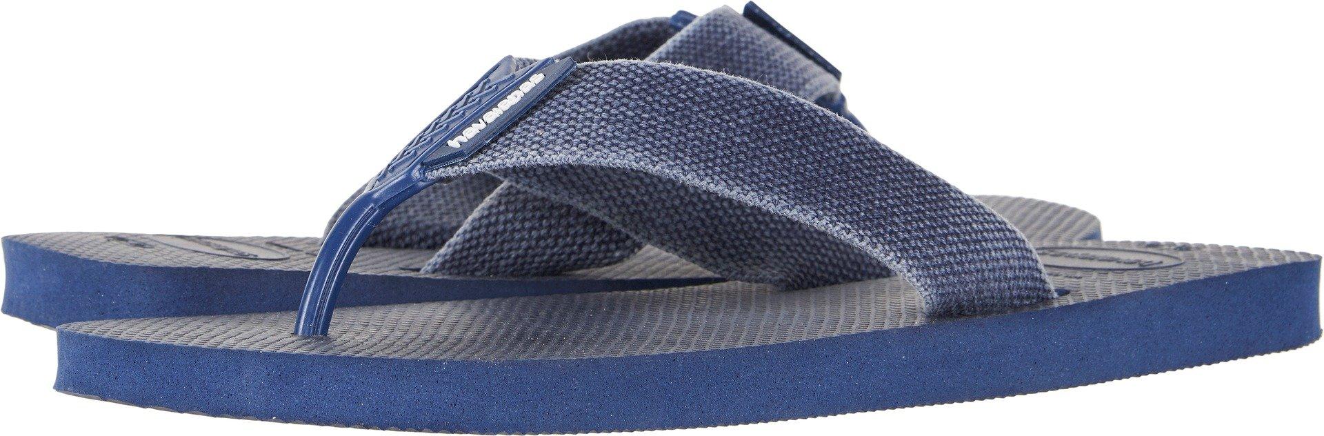 Havaianas Men's Flip-Flop Sandals, Urban Basic,Navy Blue/Indigo Blue,41/42 BR (9/10 M US)