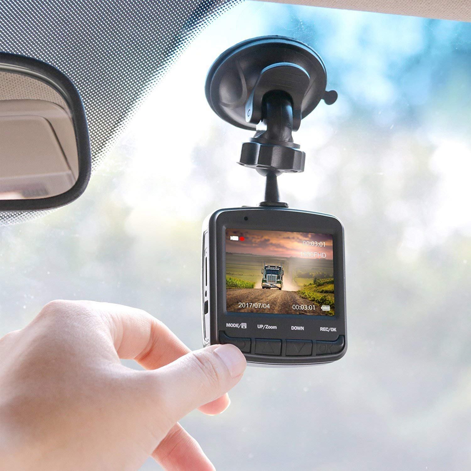 Acumen FHD 1080p Dash Cam, Car DVR Wide Angle Vehicle Dashboard Camera Recorder with Loop Recording G-Sensor, 16GB Memory Card Included