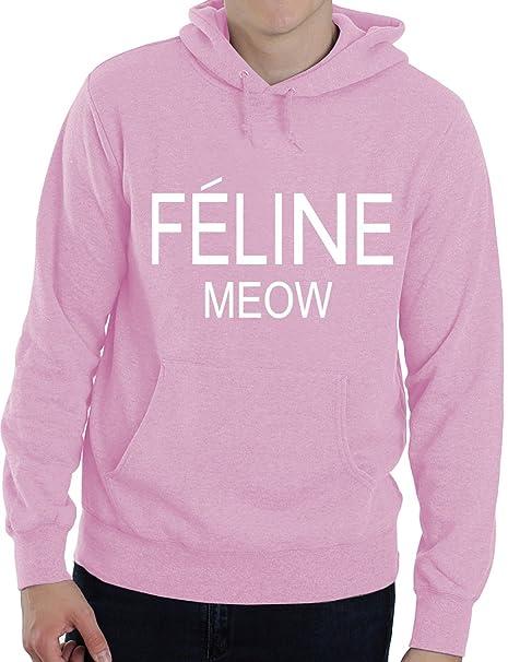 Feline Meow Cara Tumblr Swag Dope - Mujer Hombre Adulto sudadera con capucha Pequeño - XXL: Amazon.es: Ropa y accesorios