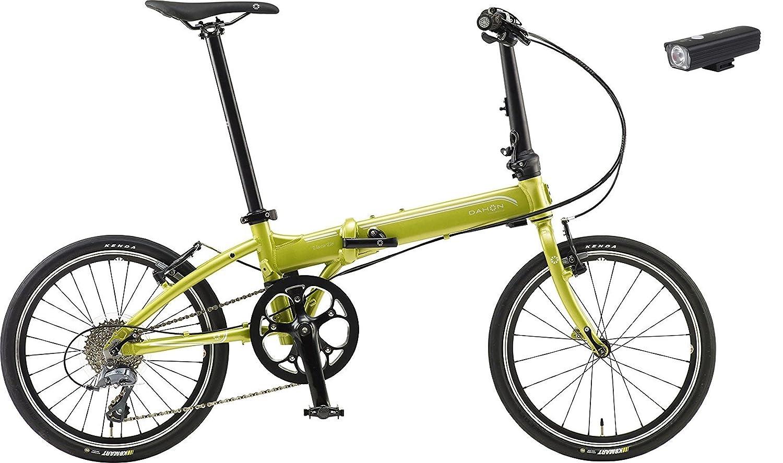 2018年モデル DAHON international(ダホン インターナショナルモデル) VITESSE D8(ヴィテッセ D8) 20インチ折り畳み自転車 +フロントライト B07B3DX9XJ ミスティーライム ミスティーライム