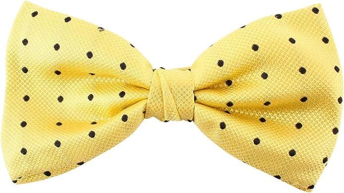 Knightsbridge Neckwear Manchas amarillas/negro Seda Corbata ...