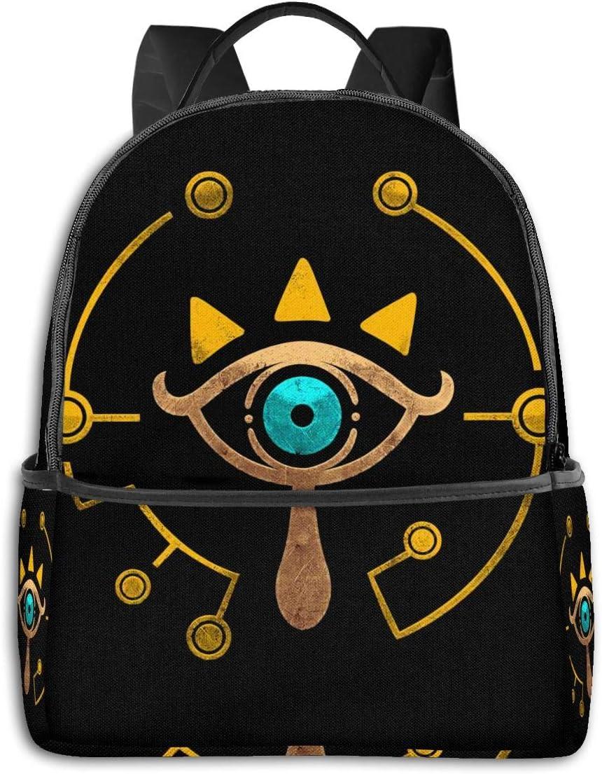 Sheikah Slate Legend of Zelda Casual Laptop Backpack Fashion Theme School Backpack