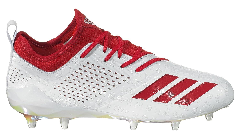 White Red adidas Men's Adizero 5-Star 7.0 adiMoji Pack Football Cleats