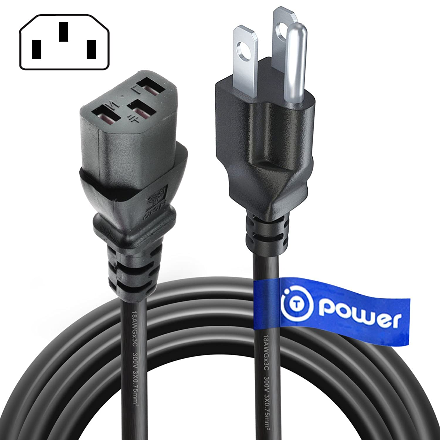 T POWER (4 FT) Long 3 Prong AC Power Cord Compatible with Pressure Cookers, Rice Cookers, Soy Milk Makers, and Other Kitchen Appliances instapot Instant Pot Power Cord Model PC-WAL1 (3pin)