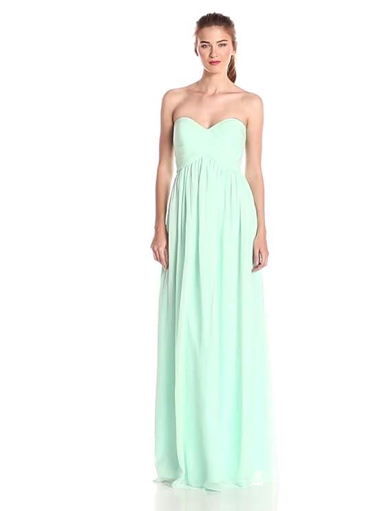 f2fef55b15f8 Amazon.com: Donna Morgan Women's Lauren Sweetheart Chiffon Gown: Clothing