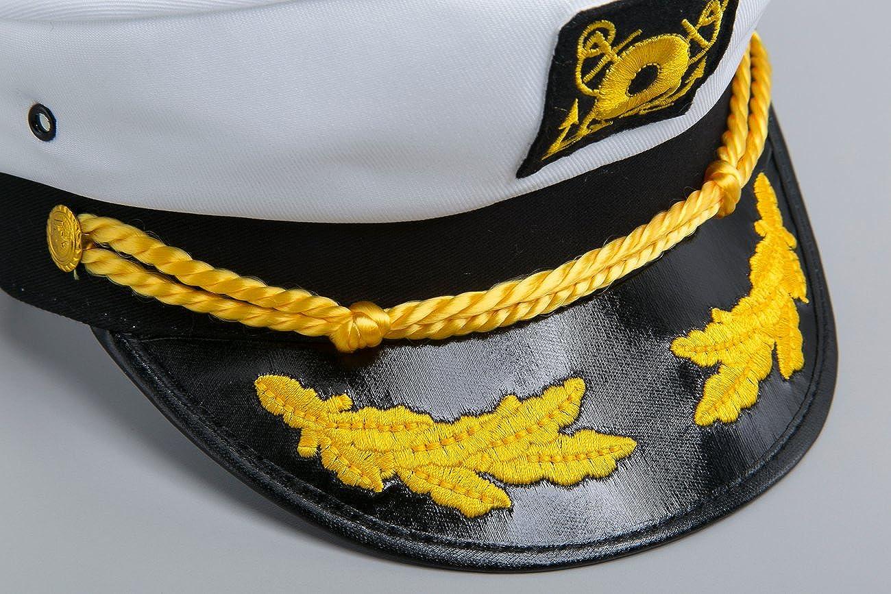 1adb19f404cbd Amazon.com  Jacobson Hat Company Men s Adult Yacht Cap