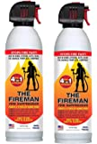 THE FIREMAN - UL APPROVED Multi-Purpose Fire Extinguishing Suppressant Spray - Fights ALL 4 Common Fires: Wood, Gasoline, Electrical Equipment and Grease/Fat Fires (Class A,B,C & K) - 18 oz. (2 Pack)