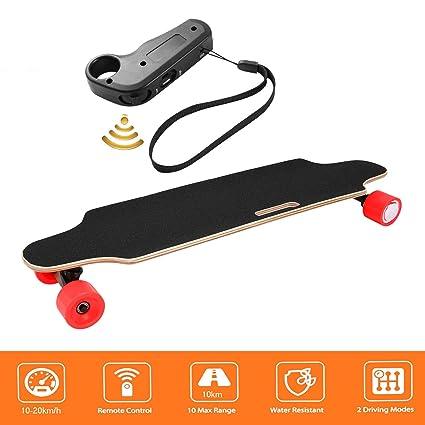 Laiozyen Longboard eléctrico E Skateboard Electric City Skateboarding Longboard eléctrico con Control Remoto y Motor | Alcance Approx. 10 km, ...