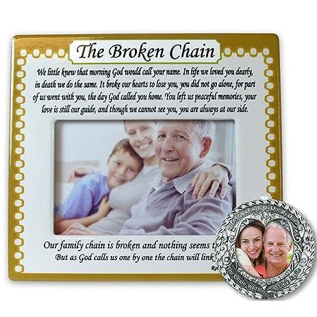 Amazon.com - Memorial Frame and Ornament Set - The Broken Chain Poem ...