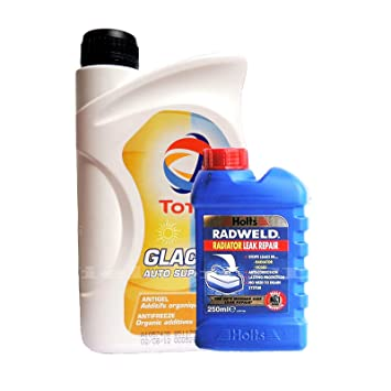 Total glacelf Auto Supra concentrado anticongelante refrigerante 1L + Holts Radweld 250 ml