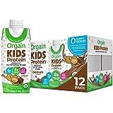 Orgain Organic Kids Protein Nutritional Shake, Chocolate - Great for Breakfast & Snacks, 22 Vitamins & Minerals, Fruits & Veg