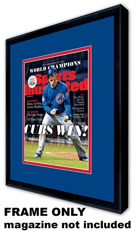 ae6294c843b Amazon.com  Sports Illustrated Magazine Frame - with Chicago Cubs Colors  Double Mat  Arts