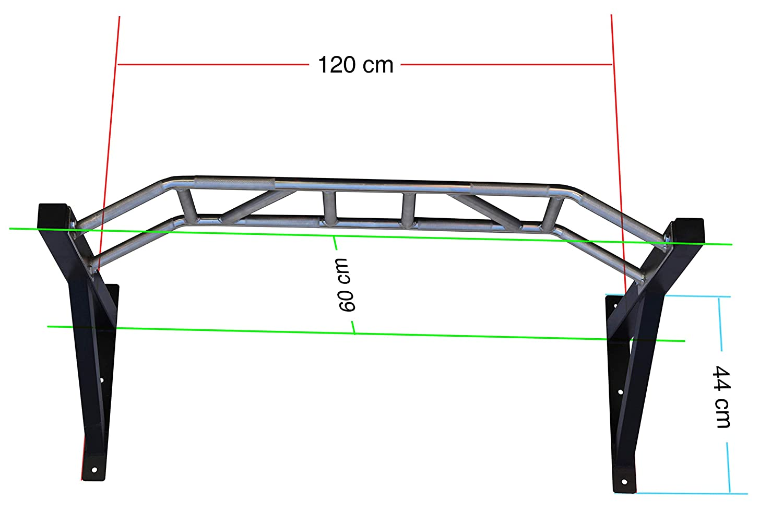 Barra profesional de dominadas XBAR de 120 cm, modelo 2017, multimango para distintos ejercicios, con fijación a la pared, chrom: Amazon.es: Deportes y aire ...