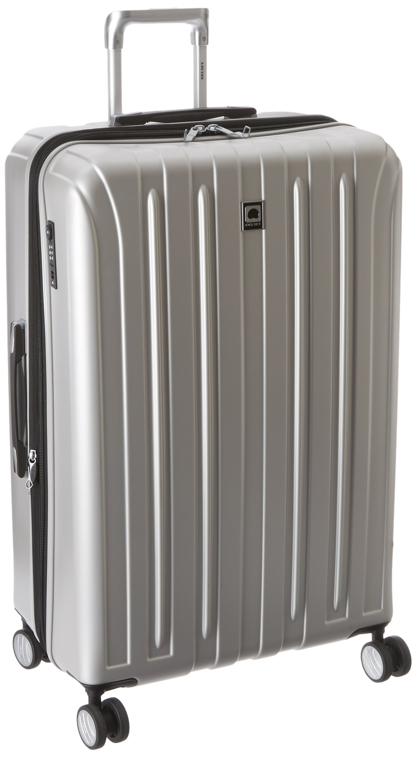 DELSEY Paris Luggage Checked-Large Hard Case Spinner Suitcase, Silver, 29 inch by DELSEY Paris