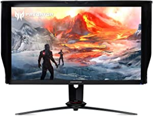 "Acer Predator XB273K Gpbmiipprzx 27"" UHD (3840 x 2160) IPS NVIDIA G-SYNC Compatible Monitor with VESA Certified DisplayHDR 400, Quantum Dot, 144Hz, DCI-P3 , Delta E<1 (Display Port & HDMI Port),Black"