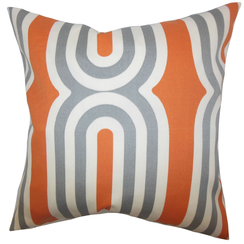 The Pillow Collection Persis Geometric Bedding Sham Orange Standard//20 x 26