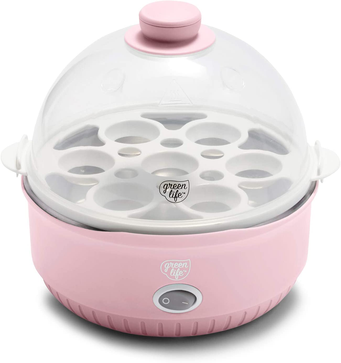 GreenLife CC003765-002 Qwik Egg Cooker, One Size, Pink