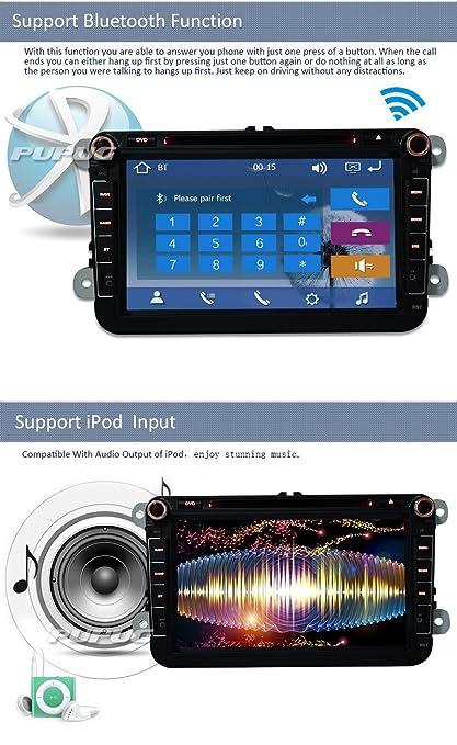 TV bluetooth MP3 Automotive Pupug 8 pulgadas de coches FM / AM GPS DVD Reproductor de CD Radio FM / AM estšŠreo para Volkswagen Jetta VW Golf Electrš®nica ...
