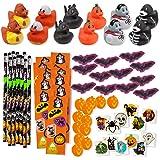 Bulk 156 Halloween Party Favors Treats for Kids Toys Novelty Assortment 12 Ducks 12 Pencils 12 Stickers Sheets 48 Mini…