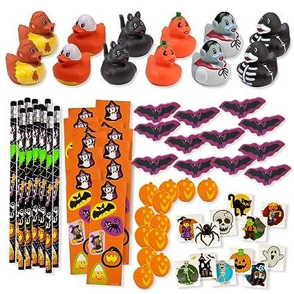 156 piece mega halloween toy novelty assortment 12 halloween ducks 12 halloween pencils