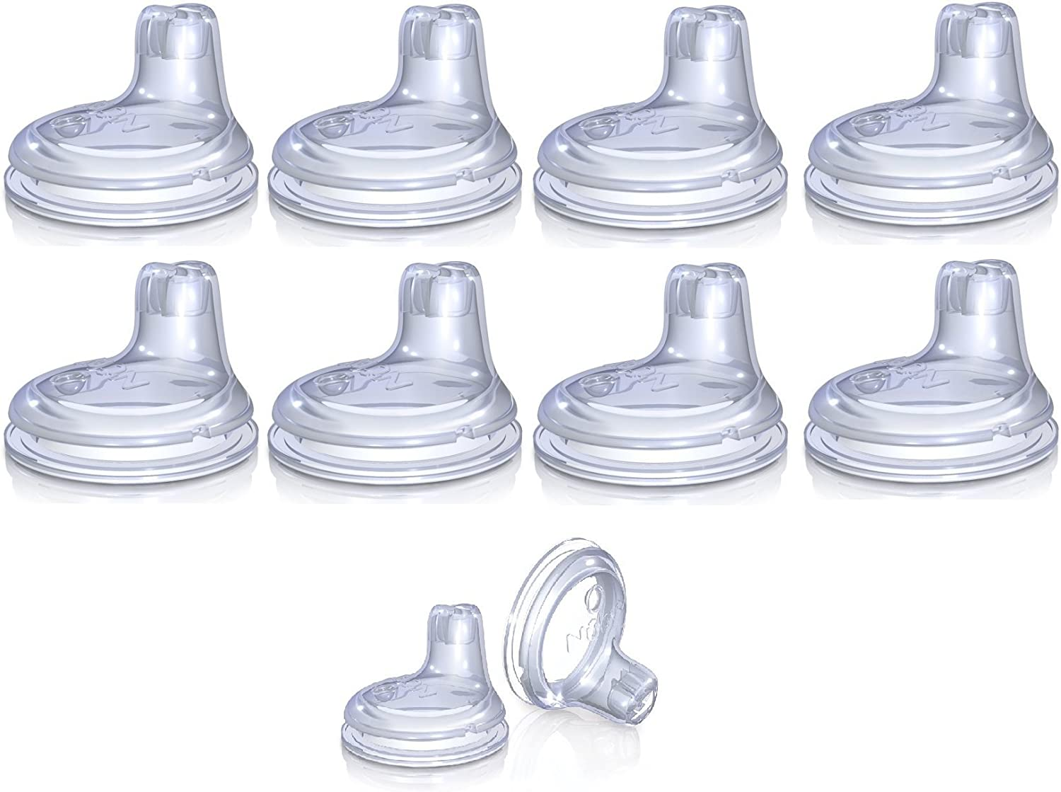 Nuby Replacement Silicone Spouts 10 Pack