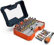 Presch Screwdriver Bit Set 32 Pieces - Screwdriver Bits - Quick-Change Magnetic Bit Holder - Colour Coded Driver Bits for Cordless Screwdrivers