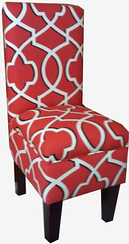 Morrow Red White Designed Dining Vanity Chair