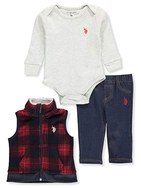 f0b964025 Image Unavailable. Image not available for. Color  U.S. Polo Assn. Baby Boys   3-Piece Pants Set ...
