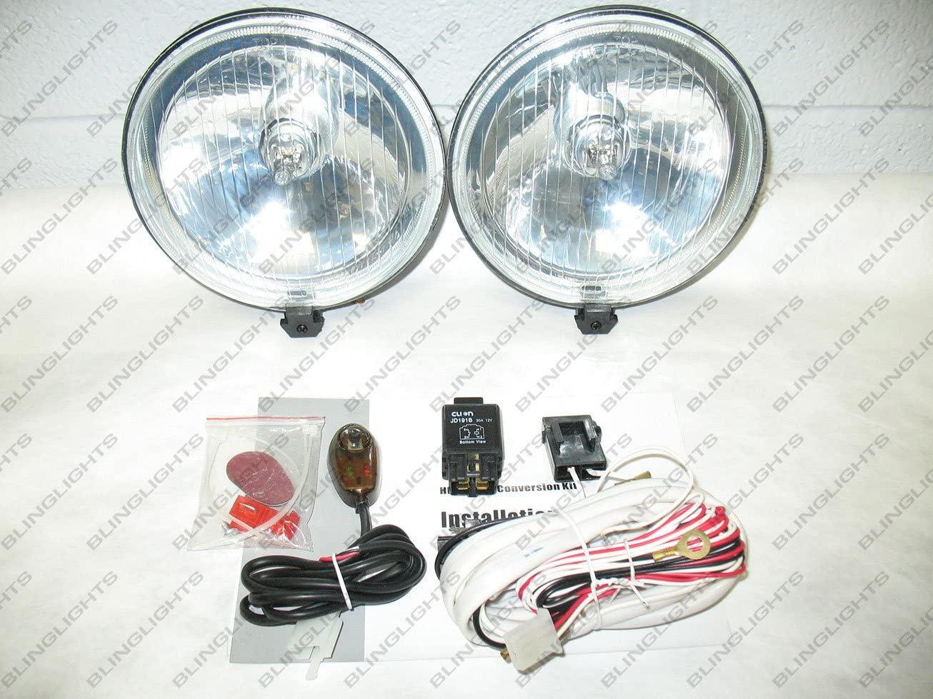Amazon Com 5 5 Inch Round Universal Driving Fog Halogen Lamp Kit Automotive