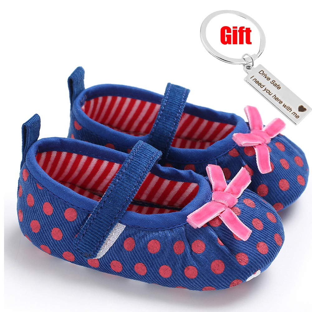 WEONEDREAM Soft Baby Girl Shoes Lightweight Sneakers Adjustable Kids Walking Toddlers Shoes