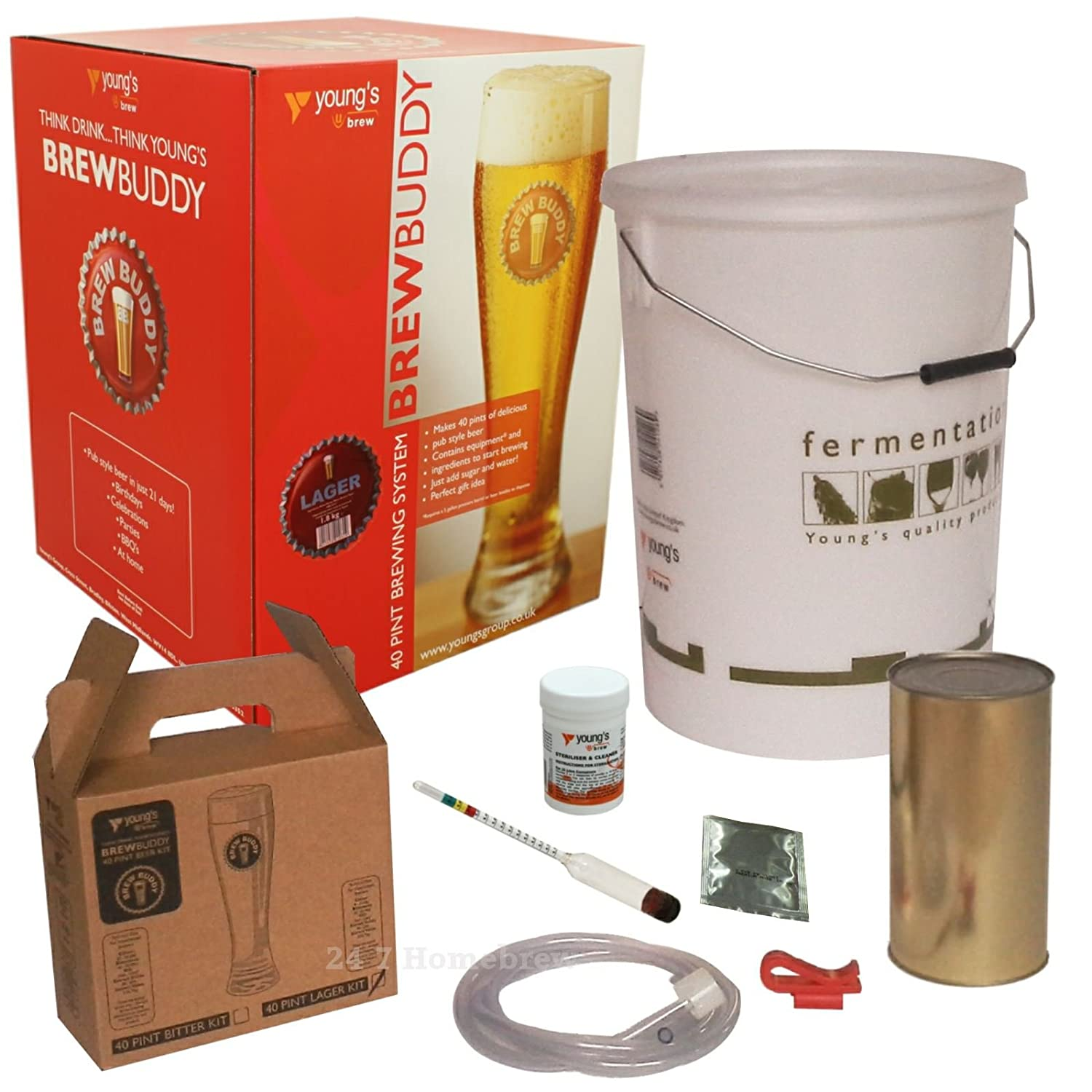 Brew Buddy Lager 40 Pints Home Brew Starter Kit Young's