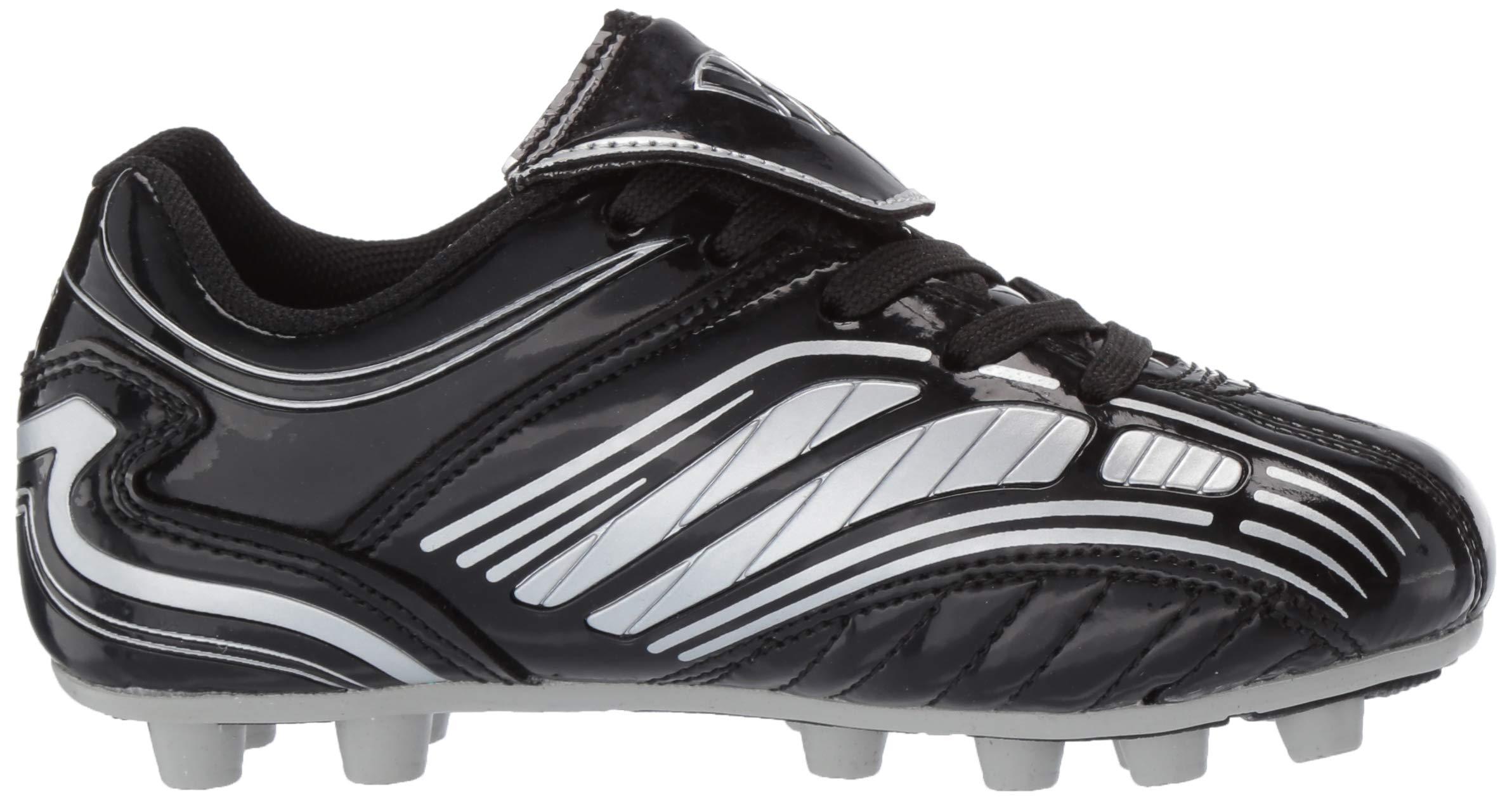 Vizari Striker FG Soccer Shoe (Toddler/Little Kid/Big Kid),Black/Silver,10 M US Toddler by Vizari (Image #7)